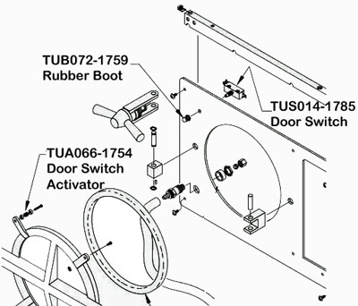 Here Is Where You Will Find The Tuttnauer 2540M Doow Switch & Activator