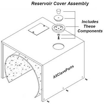 Pelton Crane OCM Autoclave Reservoir Cover Assembly