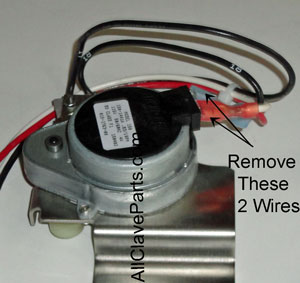 Locate the 2 wires to be removed