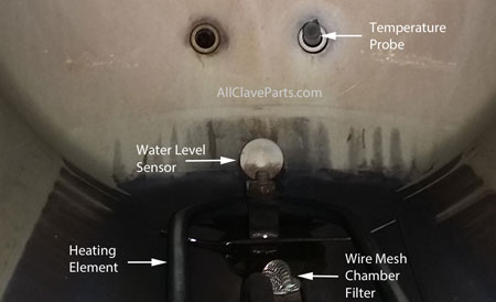 Where the Water Level Sensor Is Located Inside the Midmark M11 Autoclave Chamber
