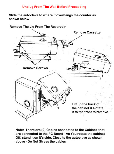 Removing the Statim 2000 cover is easy....just follow these directions