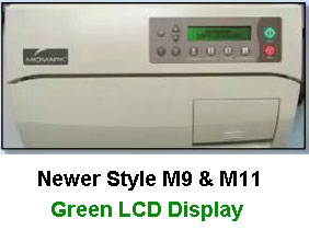 Notice Green LCD Display