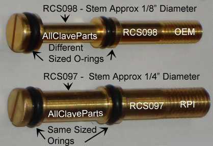 Comparing The two Different Valve Stems For the Midmark M7 Autoclave Fill/Vent Valves