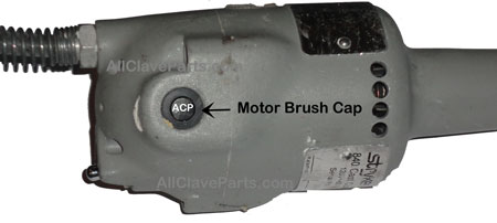 Here is where you access the motor brushes on the Stryker 840 Cast Cutter