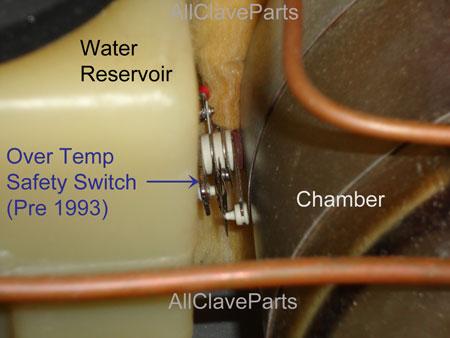 Tuttnauer Over Temperature Safety Switch Location