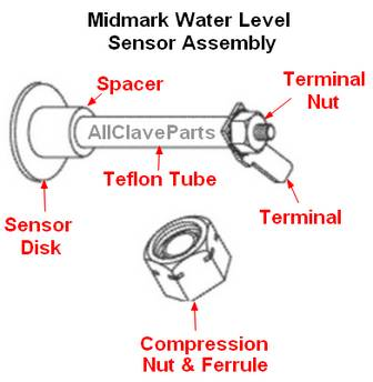 Midmark Water Level Sensor Assembly