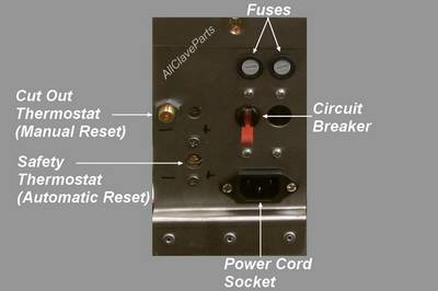 Tuttnauer Manual Cut Out Thermostat Location