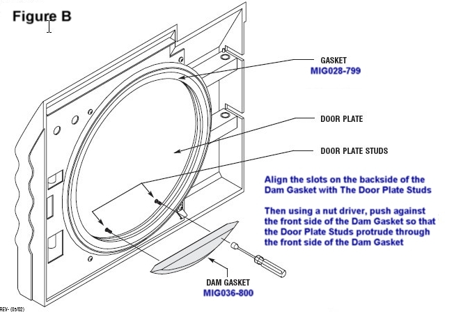 midmark m11 door dam gasket midmark part 053 0784 00 mig036 800 rh allclaveparts com M11 Ultraclave Sterilizer Midmark Knight Foot Control Parts