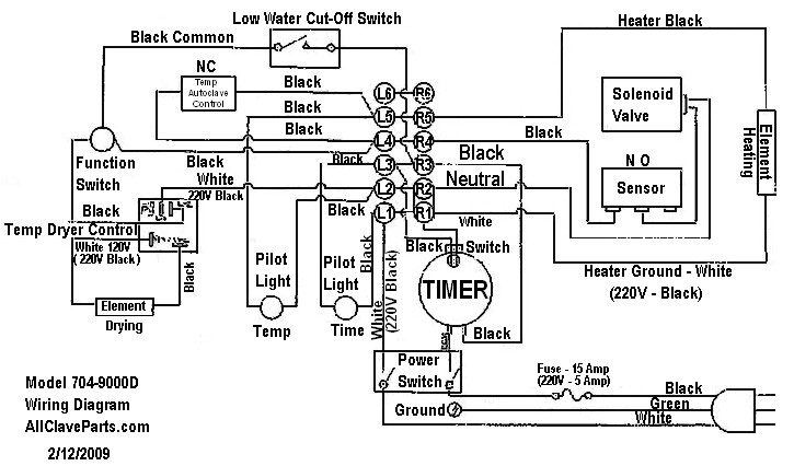 704-9000D WIRING DIAGRAM : | Hydrocollator Wiring Diagram |  | AllClaveParts