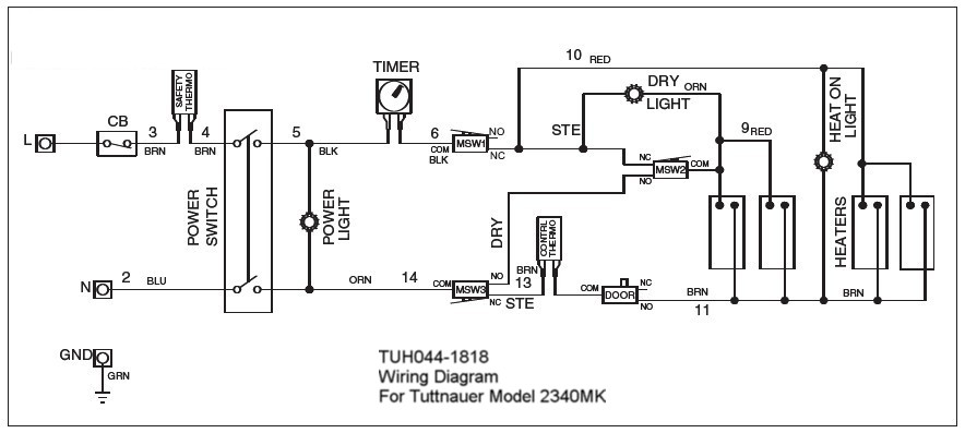 2340m Wire Harness Tuh044 1773 123 95